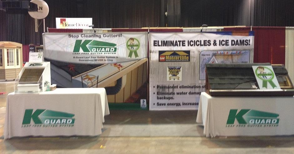 K-Guard Gutters display at a home show