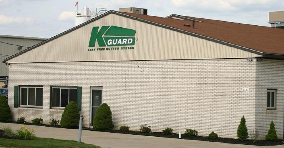 Street view of the K-GUARD Clog Free Gutters office in Macedonia, Ohio
