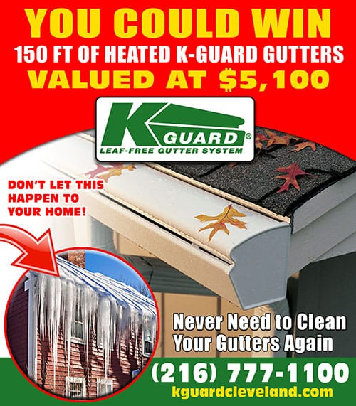 Enter Now for your chance to win 150ft of Heated K-Guard Gutters